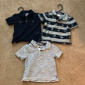 Lot of 3 Gymboree 12-18 month polo shirts